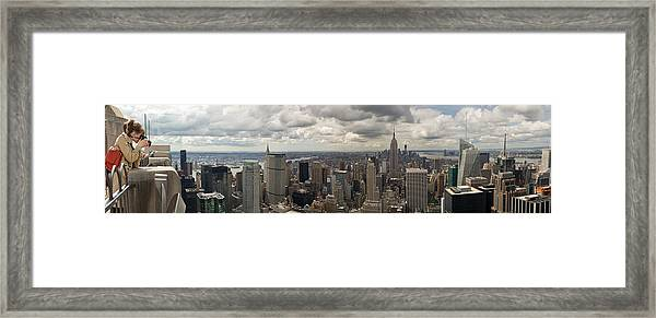 Top Of The Rock View Framed Print