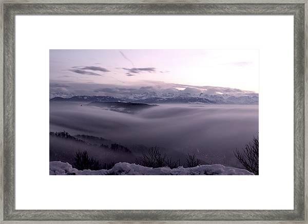 Top Of Zurich Framed Print by Florian Strohmaier