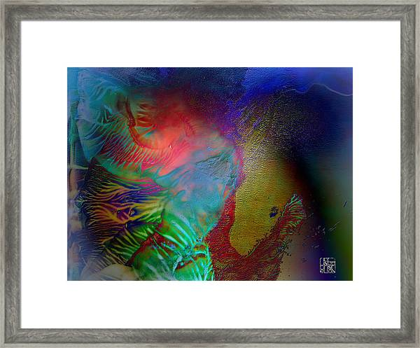 Topology Of Decalcomania Framed Print