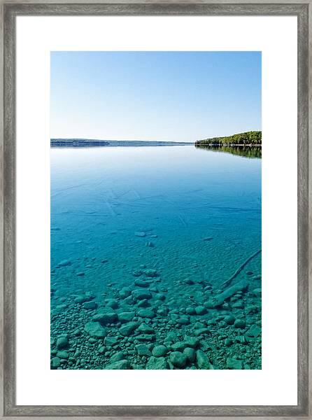 Torch Lake Framed Print