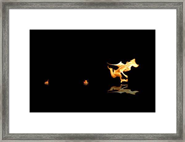 Torch Relay Framed Print