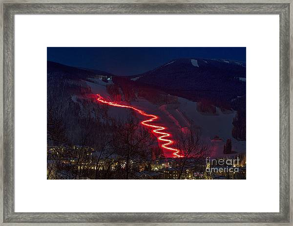 Torch Run Framed Print