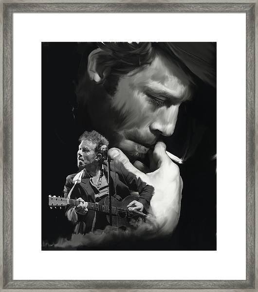 Torn Pages Tom Waits  Framed Print