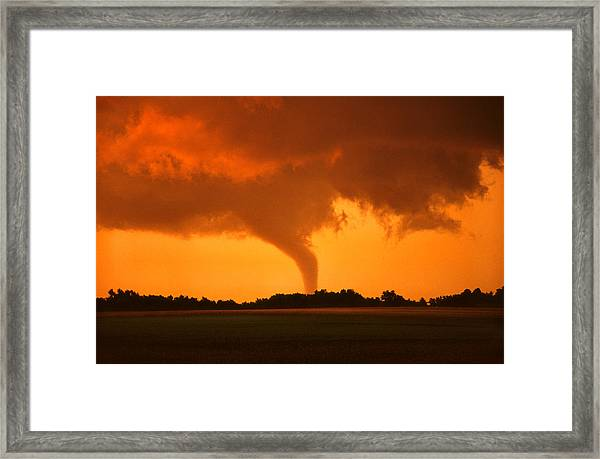 Tornado Sunset Framed Print