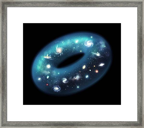 Toroidal Universe Framed Print by J. Law/european Southern Observatory/science Photo Library