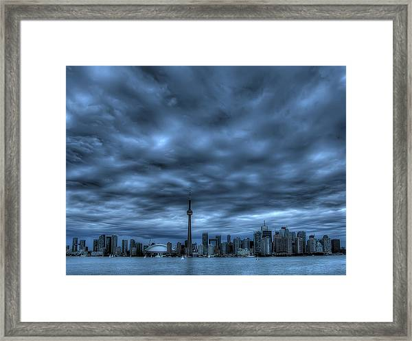 Toronto Blue Framed Print by Max Witjes