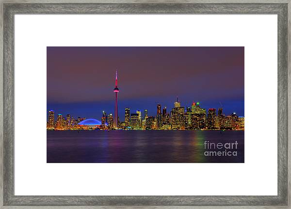 Toronto By Night... Framed Print