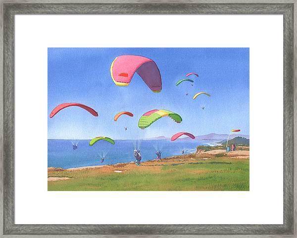 Torrey Pines Gliderport Framed Print