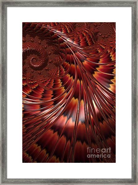 Tortoiseshell Abstract Framed Print