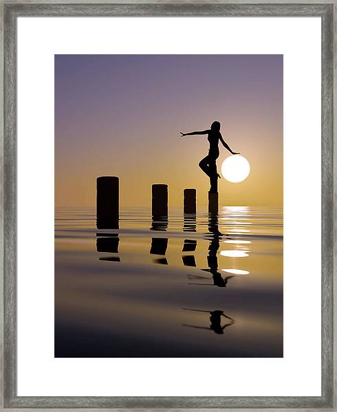 Touch My Sun Framed Print by Mustafa Celikel