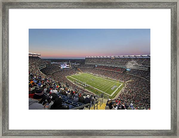 Touchdown New England Patriots  Framed Print