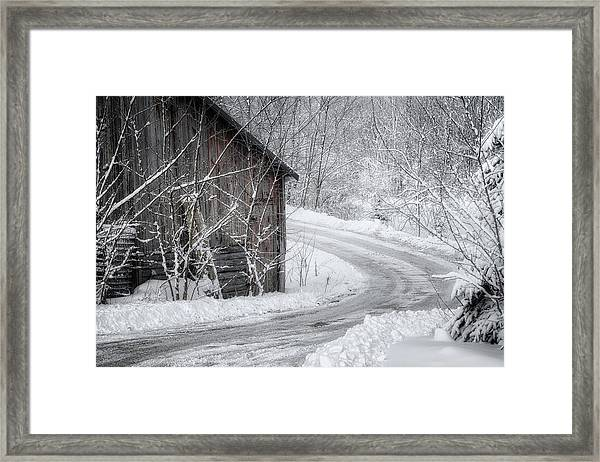 Touched By Snow Framed Print