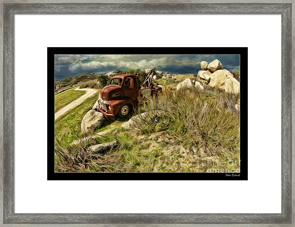 Tow Truck No Where To Go Framed Print