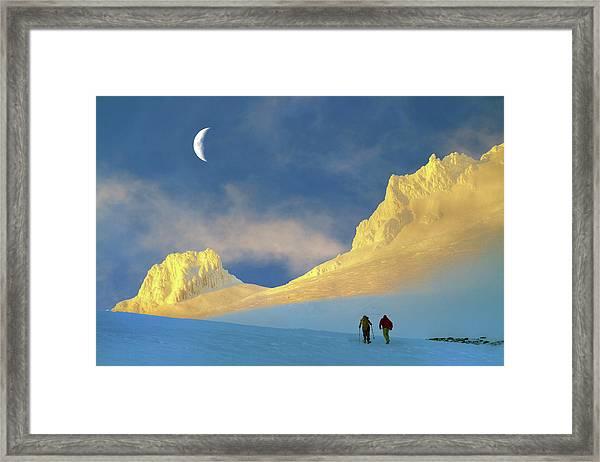 Toward Frozen Mountain Framed Print