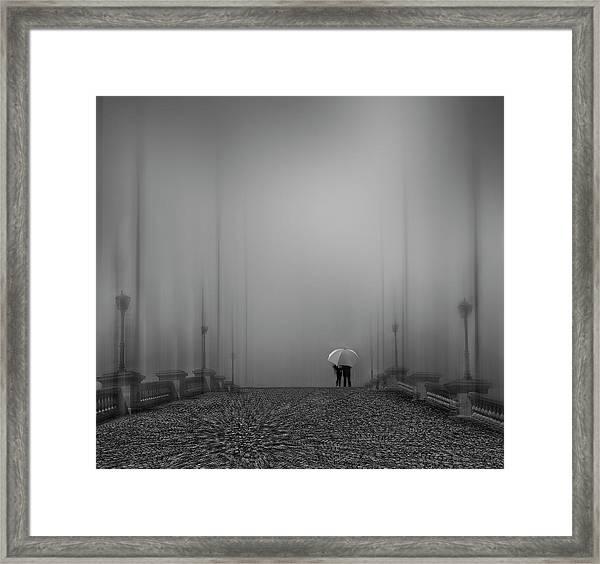 Towards An Uncertain Future Framed Print