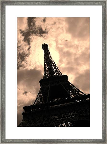 Tower And The Sky Framed Print