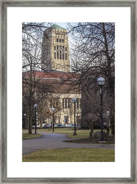 Tower At U Of M Framed Print