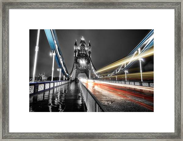 Tower Bridge Lights Framed Print