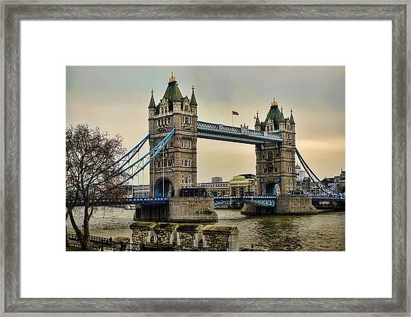 Tower Bridge On The River Thames Framed Print