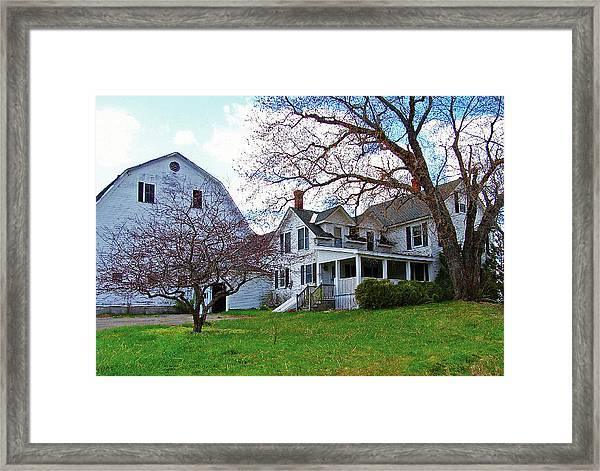 Tower Farm Washburn Maine Framed Print