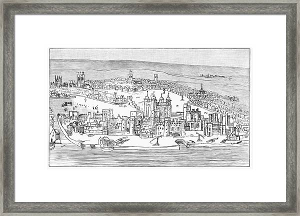 Tower Of London, C1543 Framed Print
