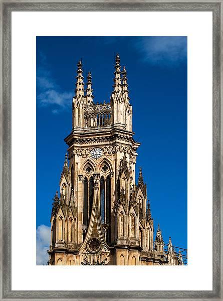 Tower Of Lourdes Church Framed Print