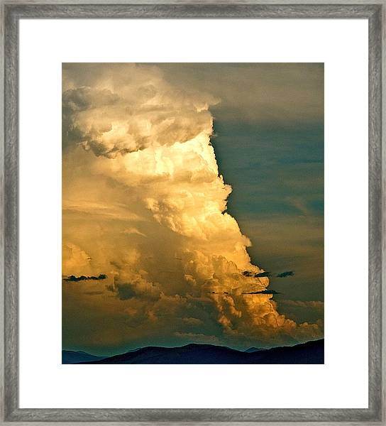 Tower Over Truchas Framed Print