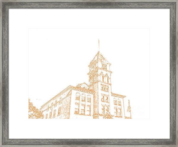 Town Hall Lancaster Ny Framed Print