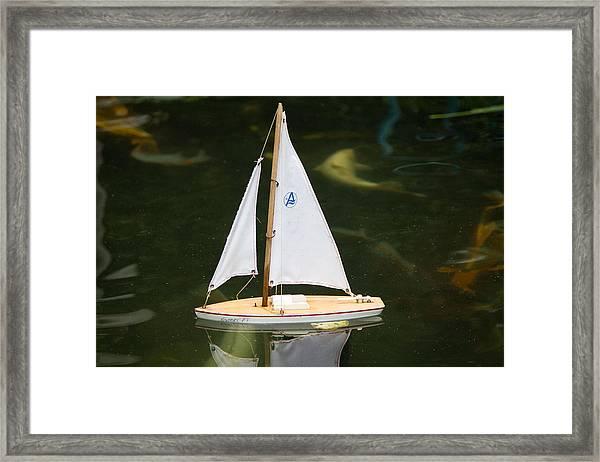 Toy Sailboat Framed Print