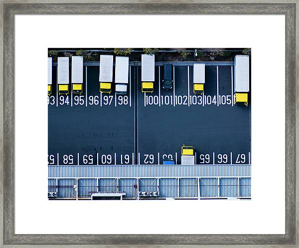 Track Parking Lot Framed Print by Michael H