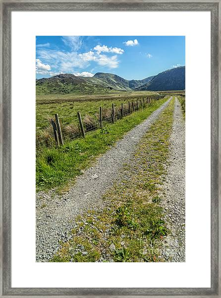 Track To Old Dam Framed Print