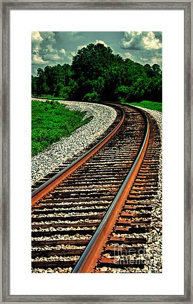 Tracks To Infinity Framed Print