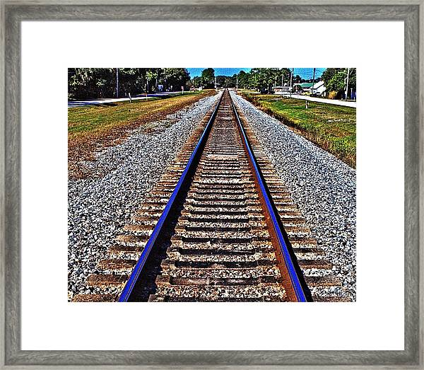 Tracks To Somewhere Framed Print