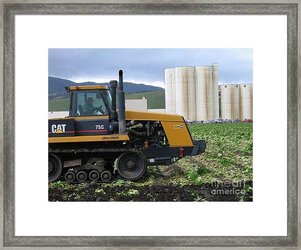 Tractor At Spreckels Framed Print