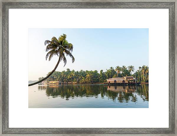 Traditional Houseboat, Kerala Framed Print by Peter Adams