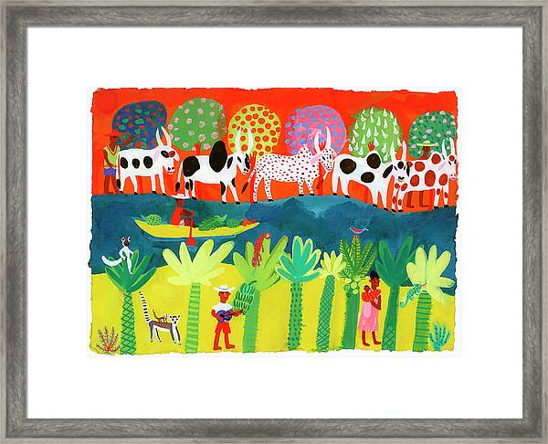 Traditional Life On River In Framed Print