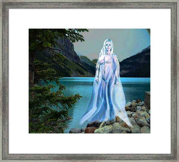 Traditional Modern Female Nude Lady Of The Lake Framed Print