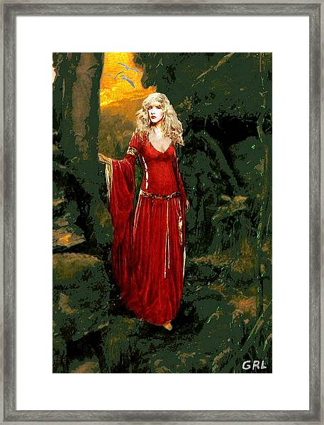 Framed Print featuring the painting Traditional Modern Original Painting Stevie Nicks Rhiannon by G Linsenmayer