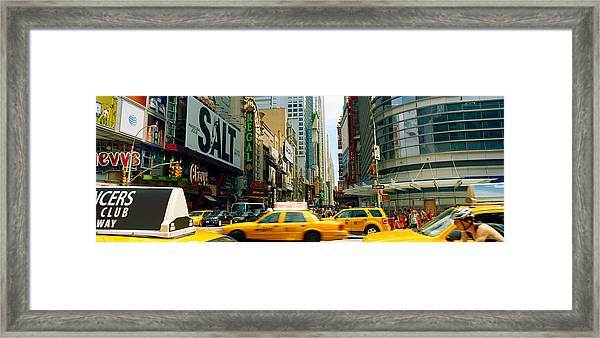 Traffic In A City, 42nd Street, Eighth Framed Print
