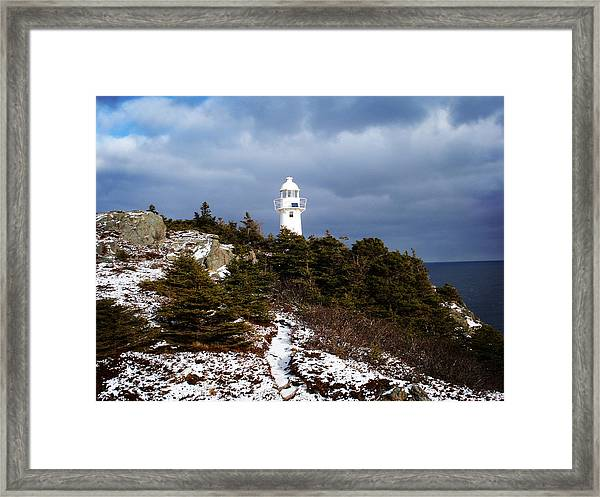 Trail To The Lighthouse Framed Print