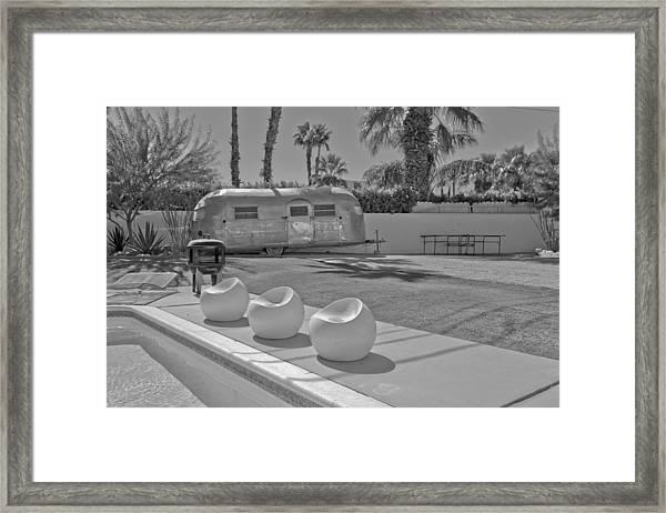 Trailer In Backyard Framed Print