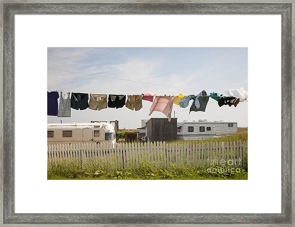Trailers In North Rustico Framed Print