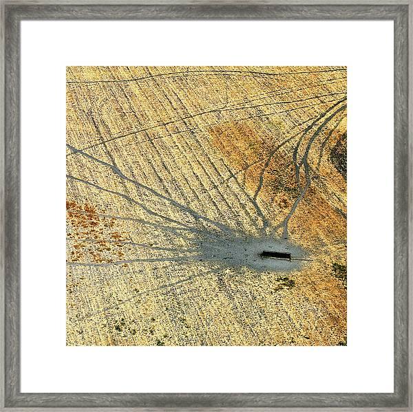 Trails Framed Print by Sylvan Adams