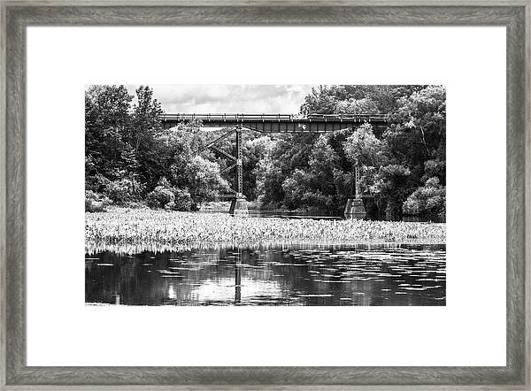 Framed Print featuring the photograph Train Bridge by Garvin Hunter