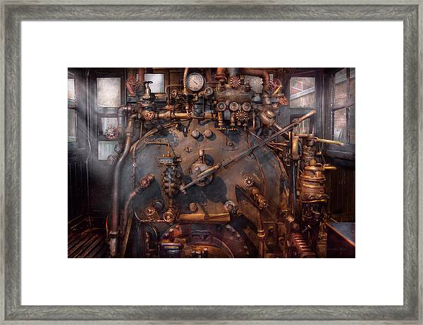 Train - Engine - Hot Under The Collar  Framed Print