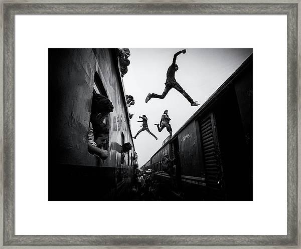Train Jumpers Framed Print by Marcel Rebro