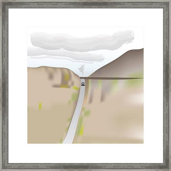 Train Landscape Framed Print
