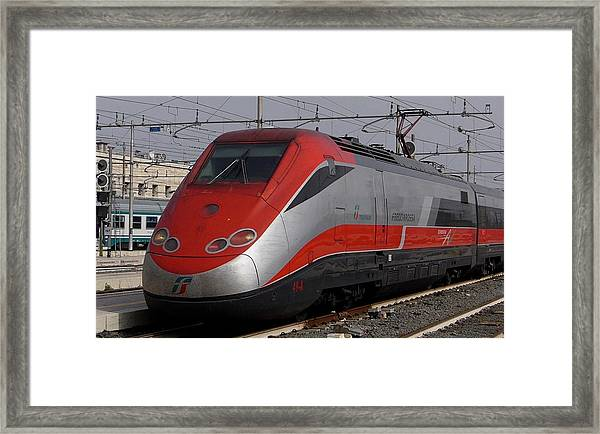 Train Out Of Rome Framed Print