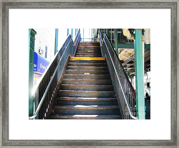 Train Staircase Framed Print