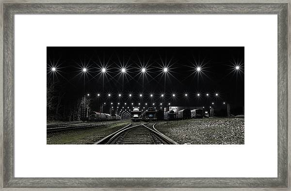 Train Stars Framed Print